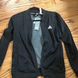 Women's Adidas Original tricot snap track jacket